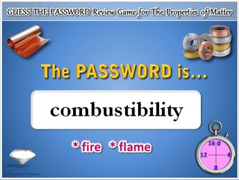 Properties of Matter - Password Terminology Review Game {Editable}