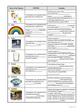 science worksheet on properties matter science best free. Black Bedroom Furniture Sets. Home Design Ideas
