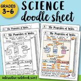 The Properties of Water Doodle Sheet - So Easy to Use! Notes