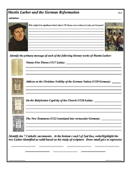 The Protestant Reformation - 10 Day Unit - PowerPoint & Activities