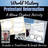 The Protestant Reformation ~A Meme Activity~ (Distance Learning)