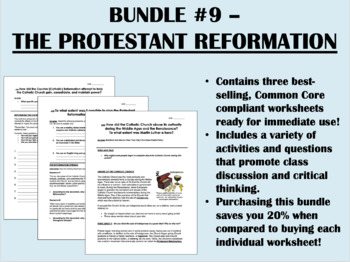 Bundle #9 - The Protestant Reformation - Global/World History Common Core