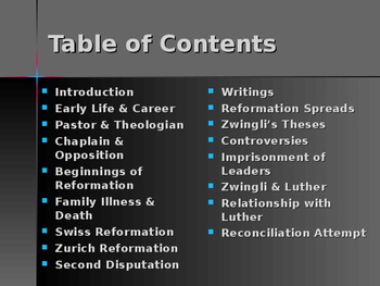 The Protestant Reformation - Key Figures - Huldrych Zwingli