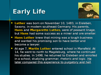 The Protestant Reformation - Key Figures - Martin Luther