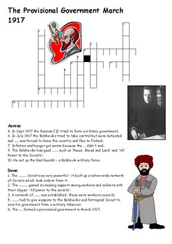The Provisional Government March 1917 Crossword