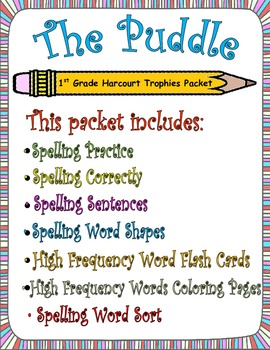 The Puddle:  First Grade Spelling and Sight Words Packet