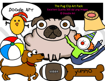 The Pug Clipart Pack
