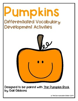 The Pumpkin Book - Differentiated Vocabulary Activity
