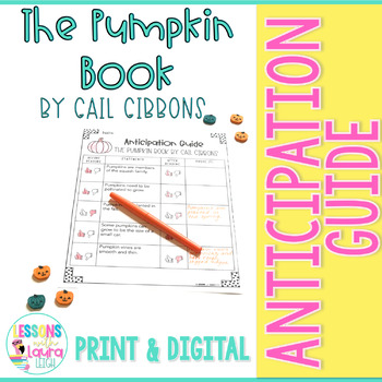 The Pumpkin Book by Gail Gibbons Anticipation Guide