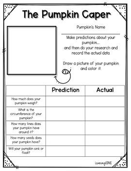 The Pumpkin Caper! Pumpkin investigation and experiment!