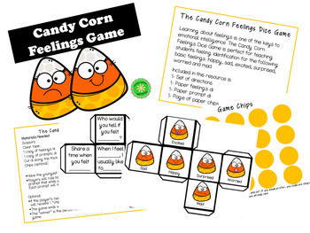 The Candy Corn Feelings Dice Game