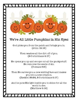 The Pumpkin Gospel Lesson Plan
