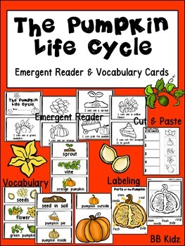 The Pumpkin Life Cycle Emergent Reader and Vocabulary Card
