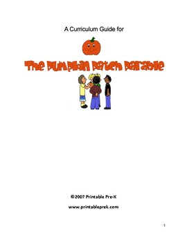 Monster image for pumpkin patch parable printable