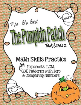 The Pumpkin Patch Task Cards -  Math Skills Practice, Set 2