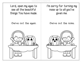 The Pumpkin Prayer Coloring Booklets - Christian Halloween