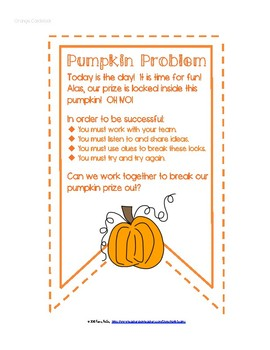 The Pumpkin Problem: A Breakout for Kinders