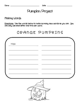 The Pumpkin Project - A Cross-Curricular Activity