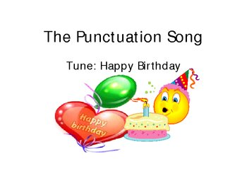 The Punctuation Song