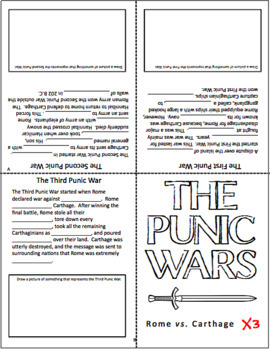 The Punic Wars - Reading Handout and Mini Book Activity - Ancient Rome
