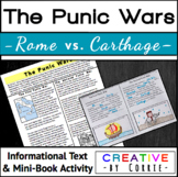 The Punic Wars - Reading Handout and Mini Book Activity -