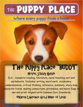 The Puppy Place BUDDY by Ellen Miles Reading Novel Study Guide Complete