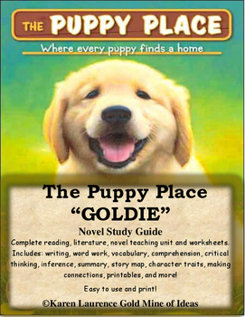 "The Puppy Place ""Goldie"" by Ellen Miles ELA Novel Rreading Study Guide"