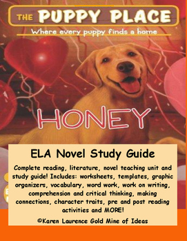 The Puppy Place HONEY by Ellen Miles ELA Novel Literature Reading Study Guide