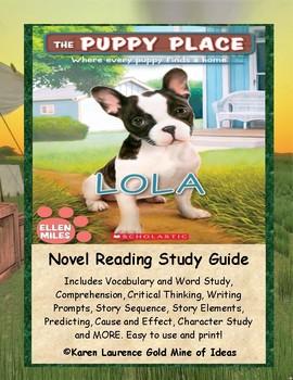 The Puppy Place LOLA Ellen Miles ELA Reading Novel Study Guide
