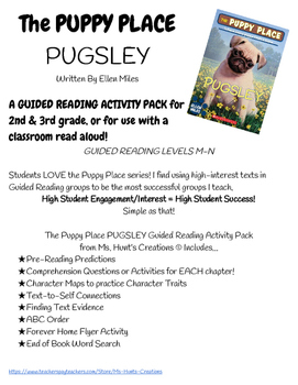 The Puppy Place Pugsley Guided Reading Activity Pack
