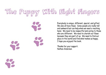 The Puppy with Eight Fingers Printable Childrens Book