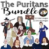 The Puritans Clip Art Bundle