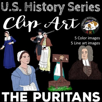The Puritans Clip Art Set