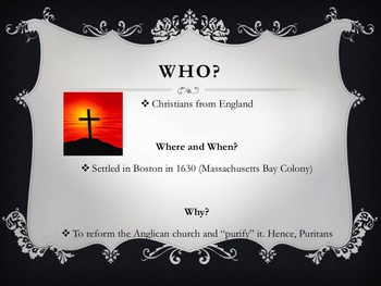 The Puritans Introduction PowerPoint! American Literature
