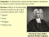 The Puritans PowerPoint Presentation