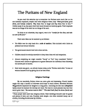 The Puritans of New England