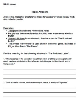 The Purloined Letter By Edgar Allan Poe Questions, Vocab, Activities