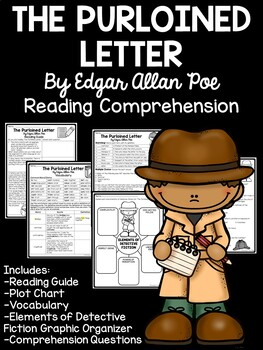 The Purloined Letter by Edgar Allan Poe- Reading Guide, Multiple Choice, Vocab