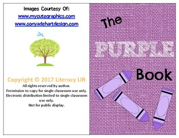 The Purple Book - Guided Reading Levels aa / A