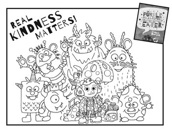The Purple Polka-Dotted Peanut Butter Eater: Coloring Sheet