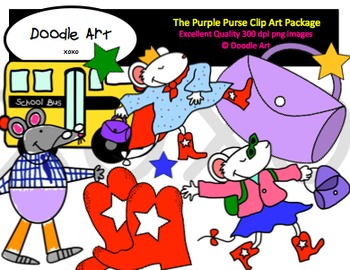 The Purple Purse Clipart Pack