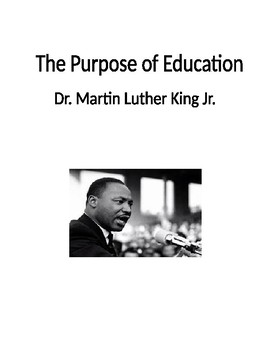 The Purpose of Education and Wake Up Everybody Combo