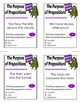 The Purpose of Prepositions Activity