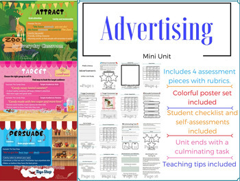 Advertising Mini Unit & Poster Set