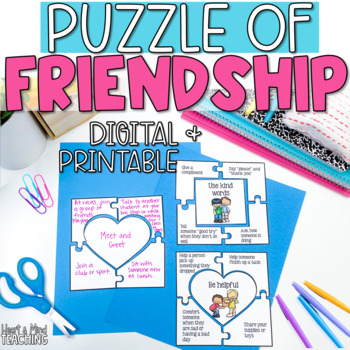 The Puzzle of Making Friends activity; how to make friends