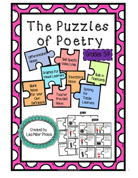 The Puzzles of Poetry for 5-9~ with Differentiated/Interactive Notes