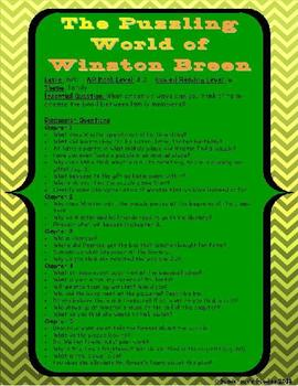 """""""The Puzzling World of Winston Breen"""" Discussion Guide and Puzzles"""