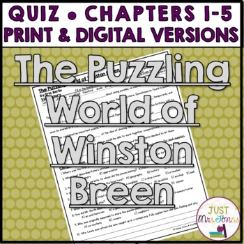 The Puzzling World of Winston Breen Quiz 1 (Ch. 1-5)