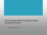 The Puzzling World of Winston Breen Vocabulary Powerpoint