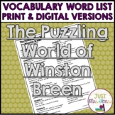 The Puzzling World of Winston Breen Vocabulary Word List